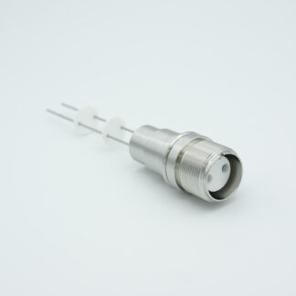 4 pin MS style MIL-C-5015 feedthrough with air side connector, molybdenum conductor, 12000V / 7,5 Amp, weld fitting