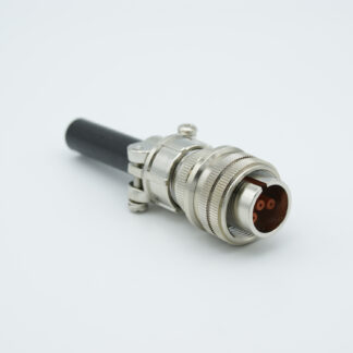 "4 pin MS circular connector, 12000 Volts, 7.5 Amp per pin, accepts 0.040"" dia. pins, (per MIL-C-5015)"