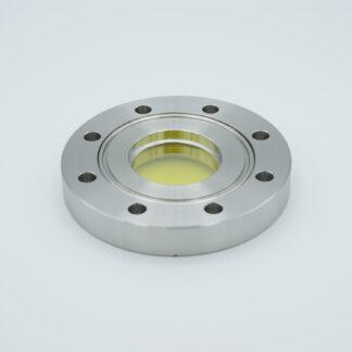 Zinc Selenide viewport, (AR coated 8-12 micron), DN63CF flange