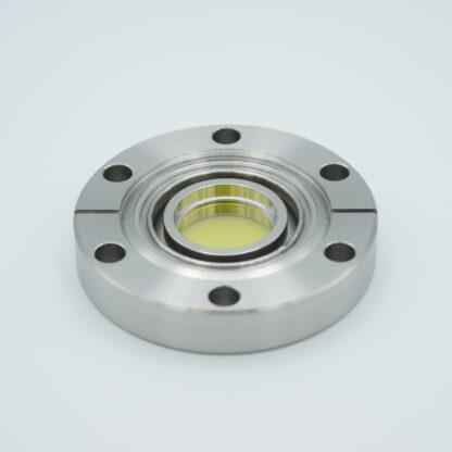 Zinc Selenide viewport (AR coated 8-12 micron), DN40CF flange