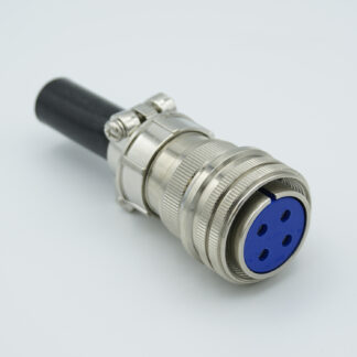 "4 pin MS circular air-side connector, 700 Volts, 40 Amp per pin, accepts 0.142"" dia. pins"