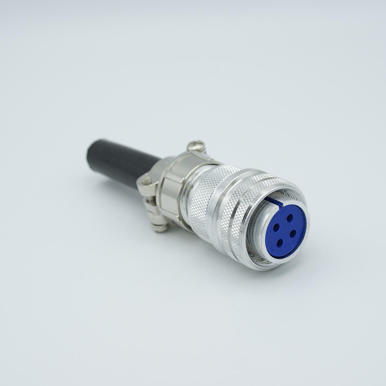 4 pin MS circular air-side connector, 700 Volts, 28 Amp per pin, accepts 0.092