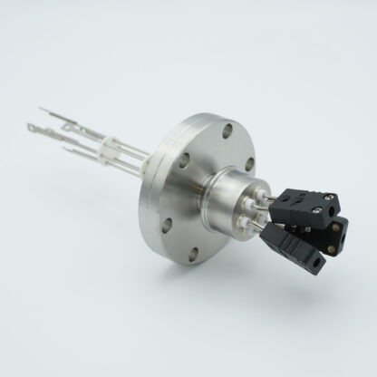 3 pair Thermocouple type-J feedthrough with both side connectors included, DN40CF flange