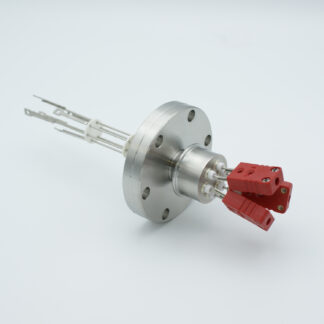 3 pair Thermocouple type-C feedthrough with both side connectors included, DN40CF flange