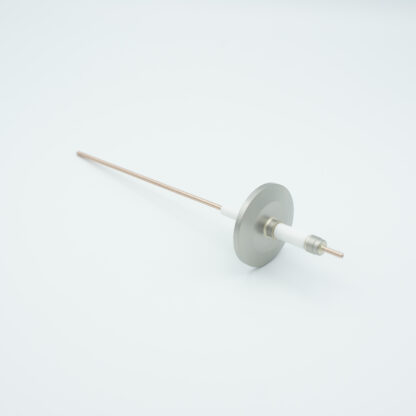 1 pin high voltage feedthrough with power glove connector 10000V / 30 Amp. Copper conductor, DN25KF flange