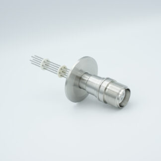 7 pin MS high voltage feedthrough according MIL-C-5015, Molybdenum conductors, DN40KF flange