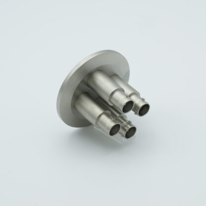 4 of grounded shield, single ended MHV feedthrough 5000V / 3 Amp, air side connector included, DN40KF flange