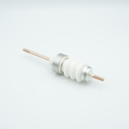 1 pin high voltage feedthrough 20000V / 7 Amp. Stainless steel conductor weld fitting