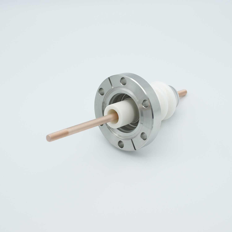1 pin high voltage feedthrough 20000V / 7 Amp. Nickel conductor DN40CF flange