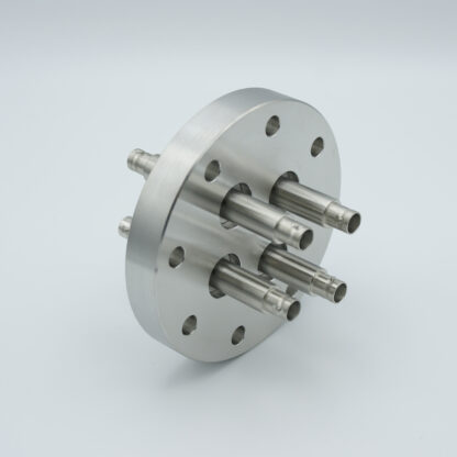 4 of grounded shield, double ended BNC feedthrough 500V / 3 Amp, air side connector included, DN63CF flange