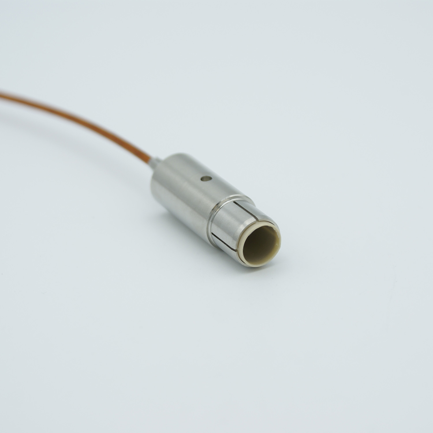 Grounded shield UHV connector with non-terminated Kapton insulated 39