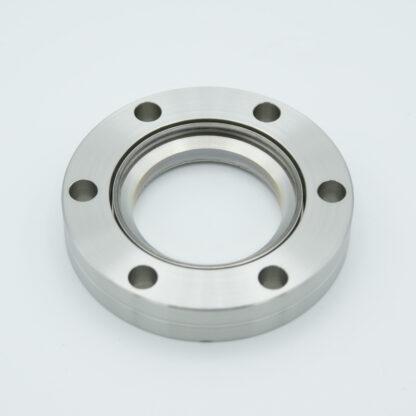 BBAR coated zero length fused Silica viewport, DN40CF, 225-450nm