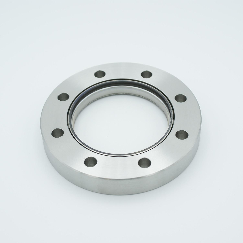 BBAR coated zero length fused Silica viewport, DN63CF, 225-450nm