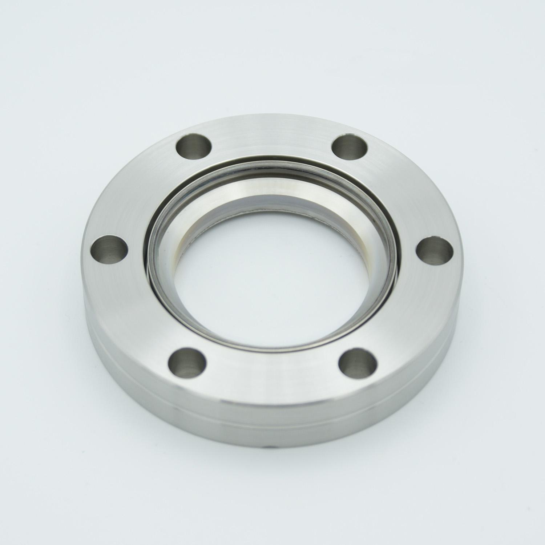 BBAR coated zero length fused Silica viewport, DN40CF, 425-760nm
