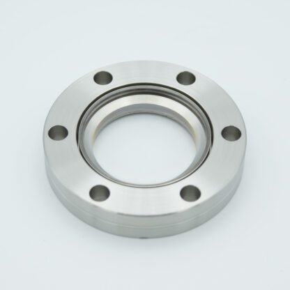 BBAR coated zero length fused Silica viewport, DN40CF, 550-1100nm