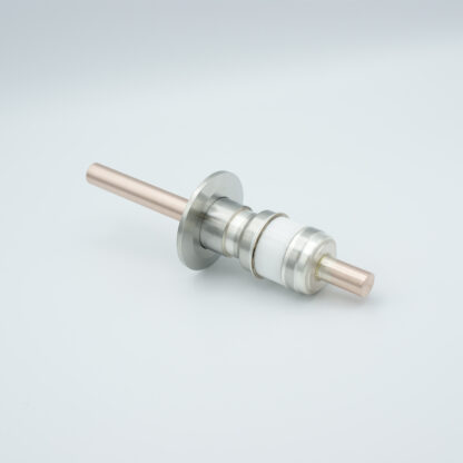 1 pin high voltage feedthrough 8000V / 450 Amp. Copper conductor, DN16KF flange