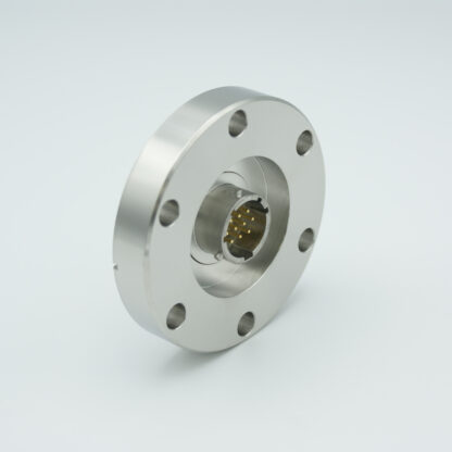 19 pins double sided MS Circular feedthrough 1000 Volt / 5 Amp including VAC and ATM connector, DN40CF flange