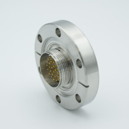 41 pins double sided MS Circular feedthrough 1000 Volt / 5 Amp including VAC and ATM connector, DN50CF flange