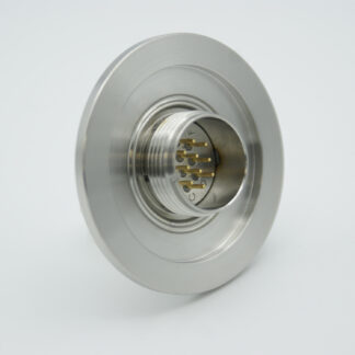 10 pin double sided MS Circular feedthrough 1000 Volt / 5 Amp including VAC and ATM connector, DN40KF flange