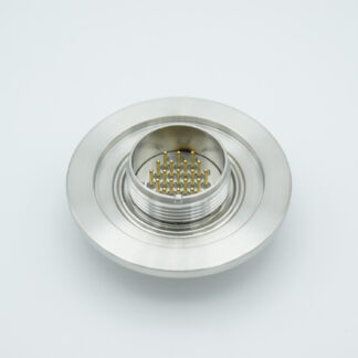 41 pin double sided MS Circular feedthrough 1000 Volt / 3 Amp including VAC and ATM connector, DN50KF flange