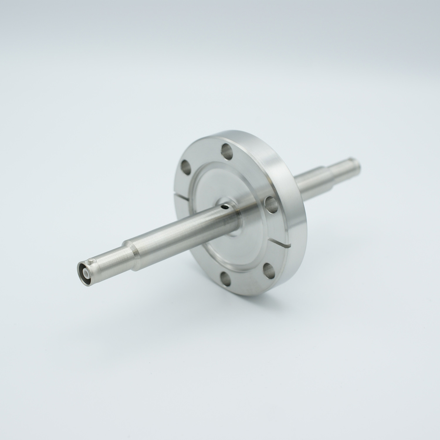 1 of grounded shield, double ended SHV-10 Amp 10000 VDC feedthrough, air side connector included DN40KF