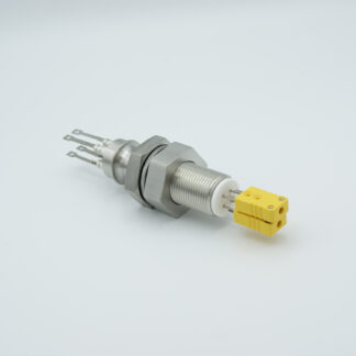 2 pair Thermocouple type-J feedthrough with both side connectors included, base plate fitting