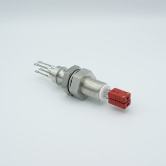 2 pair Thermocouple type-C feedthrough with both side connectors included, base plate fitting