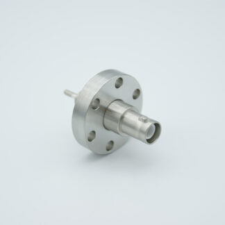 Adapter from 1/8 type-A to MHV feedthrough 500VDC / 3 Amp, DN19CF