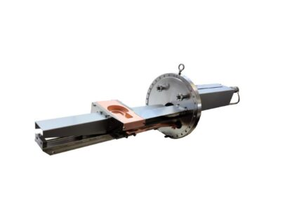 Six pocket 10kW HC-serie linear e-Gun 15cc, manual operated,  flange mounting optional
